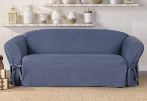 SureFit Authentic Denim 1 Piece Sofa Slipcover