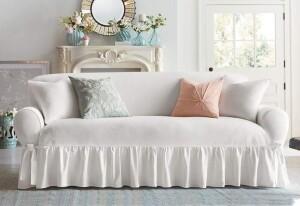SureFit Essential Twill 1 Piece Sofa Slipcover