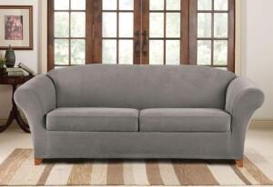SureFit Stretch Pique 3 Piece Sofa Slipcover