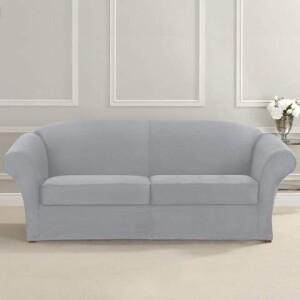SureFit Ultimate Stretch Suede 3 Piece Sofa Slipcover