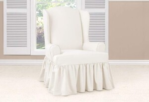 SureFit Essential Twill Wing Chair Slipcover