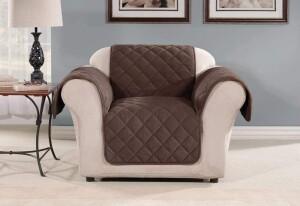 SureFit Oversized Microfleece Chair Furniture Cover