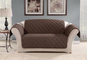 SureFit Oversized Microfleece Loveseat Furniture Cover