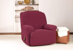 SureFit Simple Stretch Twill Recliner Slipcover