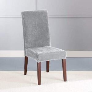 SureFit Stretch Velvet Plush Dining Chair Slipcover