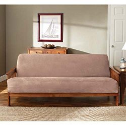 Sure Fit Soft Suede Woven Futon Slipcover Sable