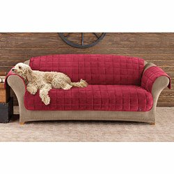 Sure Fit Deluxe Sofa Pet Throw, Burgundy