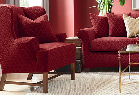sure fit stretch grand marrakesh wing chair slipcover